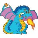 Stickers enfant Dragon réf 3702 (Dimensions de 10cm à 130cm de largeur)