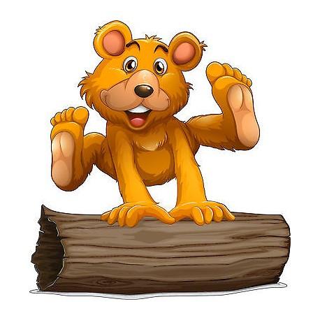 Sticker enfant Ourson réf 3706 ( Dimensions de 10 cm à 130cm de hauteur)