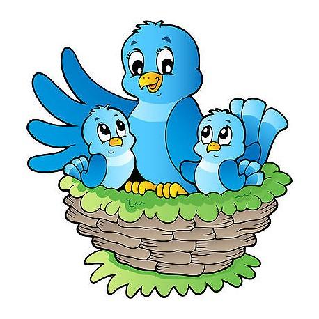 Sticker enfant Oiseaux réf 3703 ( Dimensions de 10 cm à 130cm de hauteur)