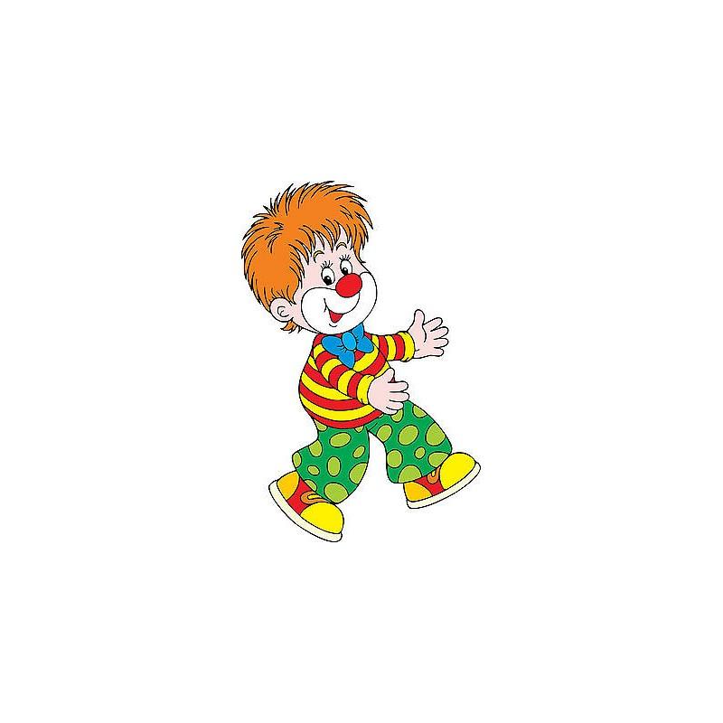Stickers autocollant muraux enfant clown r f 3698 for Autocollant muraux