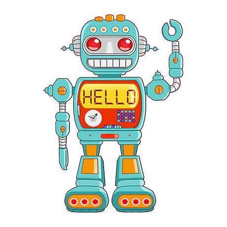 Stickers autocollant muraux enfant Robot réf 3710 (30 dimensions)