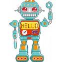 Stickers autocollant muraux enfant Robot réf 3710