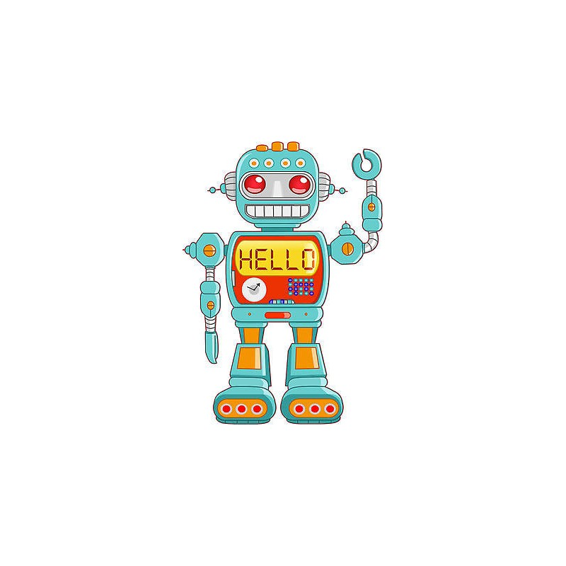 Stickers autocollant muraux enfant robot r f 3710 for Autocollant muraux