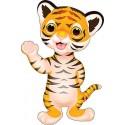 Stickers muraux enfant Tigre réf 3569 (30 dimensions)