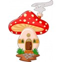 Stickers muraux enfant maison champignon réf 3568