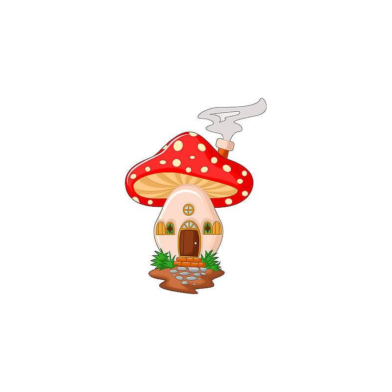 stickers muraux enfant maison champignon r f 3568 stickers muraux enfant. Black Bedroom Furniture Sets. Home Design Ideas