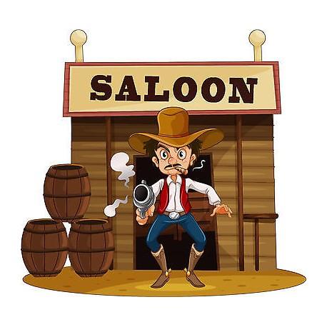 Stickers enfant saloon cow boy r f 3707 dimensions de - Dessin saloon ...