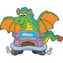 Stickers enfant Dragon voiture réf 3700