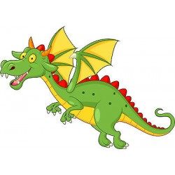 Stickers enfant Dragon réf 3658 (Dimensions de 10cm à 130cm de largeur)