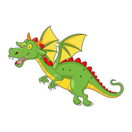 Stickers enfant Dragon réf 3658 (Dimensions de 10cm à 130cm de largeur)