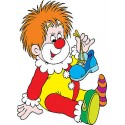 Stickers autocollant muraux enfant Clown réf 3657