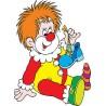 Stickers autocollant muraux enfant Clown réf 3657 (30 dimensions)