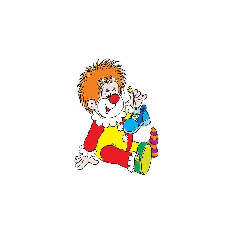 Stickers autocollant muraux enfant clown r f 3657 for Autocollant muraux
