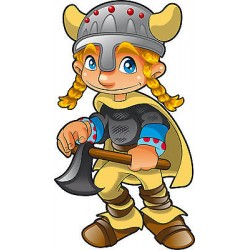 Stickers autocollant muraux enfant Viking réf 3646 (30 dimensions)