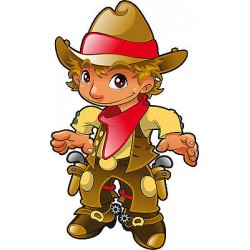 Stickers autocollant muraux enfant Cow-Boy réf 3644 (30 dimensions)