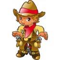 Stickers autocollant muraux enfant Cow-Boy réf 3644 (30 dimensions)