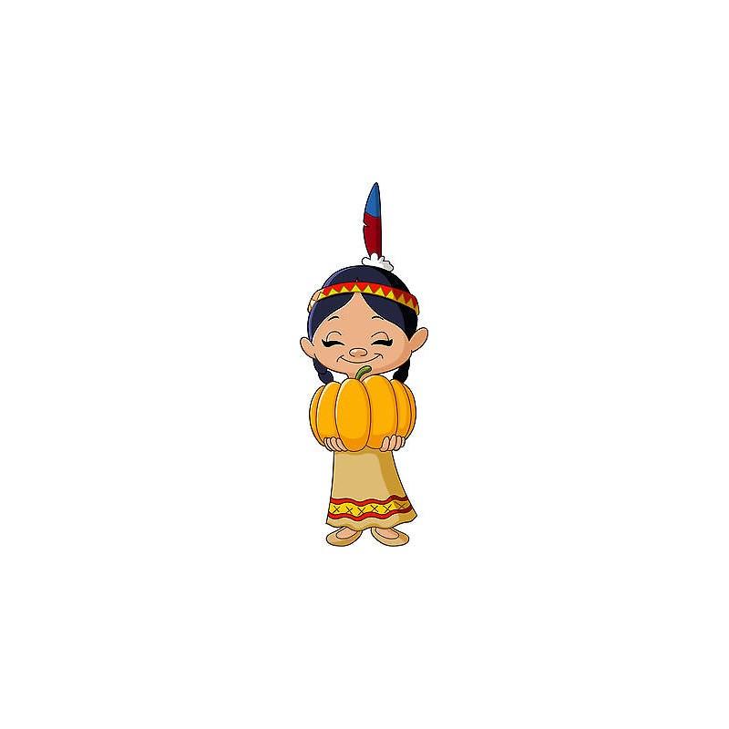 Stickers autocollant muraux enfant indienne r f 3643 30 for Autocollant muraux