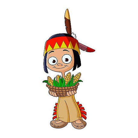 Stickers autocollant muraux enfant Indien réf 3642 (30 dimensions)