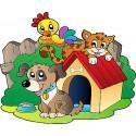 Stickers enfant Animaux ferme réf 3641 (Dimensions de 10cm à 130cm de largeur)