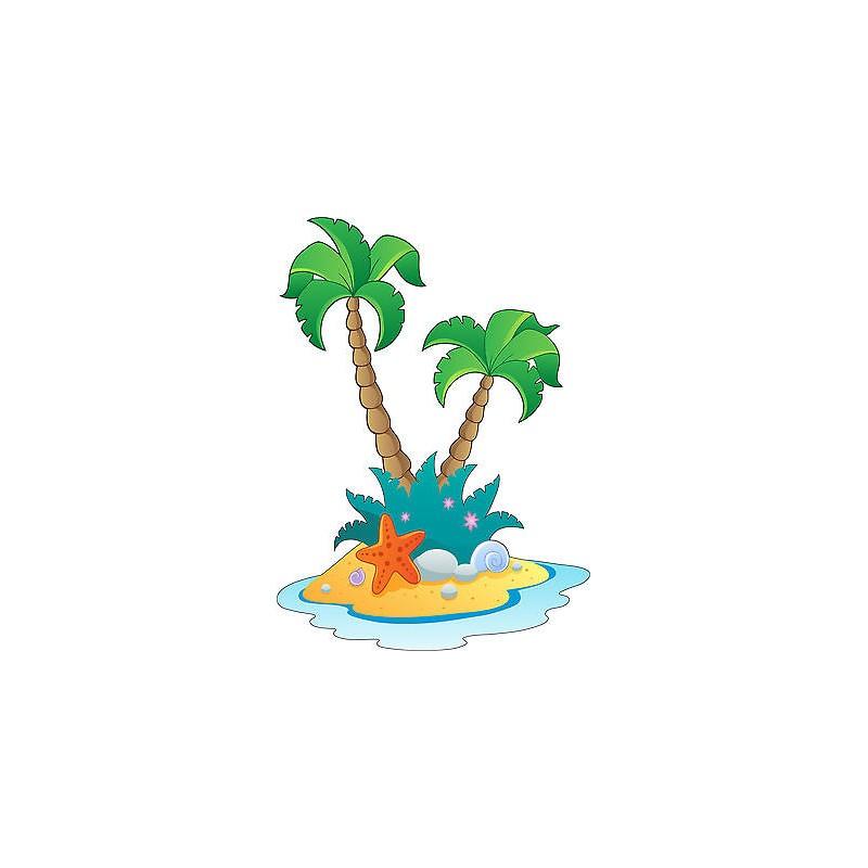Stickers autocollant muraux enfant palmiers r f 3638 for Autocollant muraux