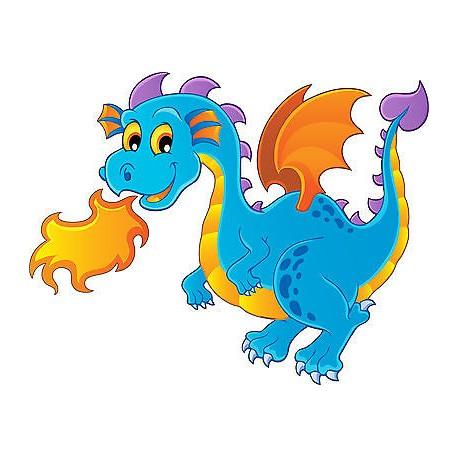 Stickers muraux enfant dragon feu réf 3636