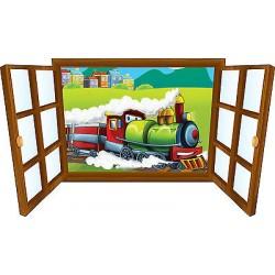 Sticker enfant fenêtre locomotive réf 3930