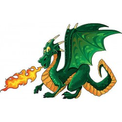 Sticker enfant Petit Dragon réf 3524 (Dimensions de 10 cm à 130cm de largeur)