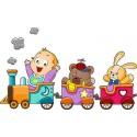 Sticker enfant Petit Train réf 3523 (Dimensions de 10 cm à 130cm de largeur)