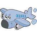 Sticker enfant Avion réf 3517 (Dimensions de 10 cm à 130cm de largeur)