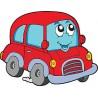 Sticker enfant Auto voiture réf 3516 (Dimensions de 10 cm à 130cm de largeur)