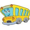 Sticker enfant Bus réf 3515 (Dimensions de 10 cm à 130cm de largeur)
