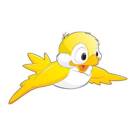 Stickers enfant Oiseau Jaune réf 3562 (Dimensions de 10cm à 130cm de largeur)