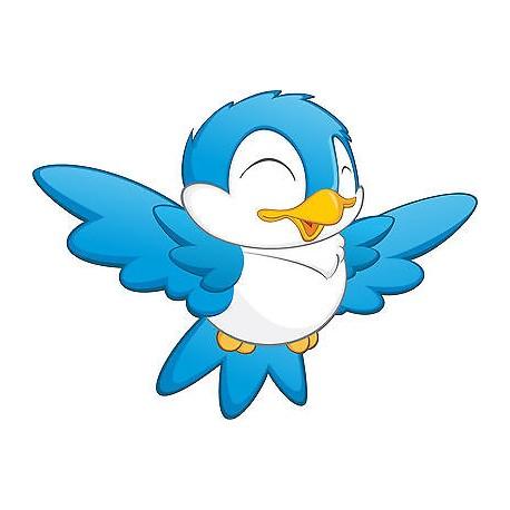 Stickers enfant oiseau bleu r f 3561 dimensions de 10cm for Oiseau par la couleur
