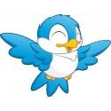 Stickers enfant Oiseau bleu réf 3561 (Dimensions de 10cm à 130cm de largeur)