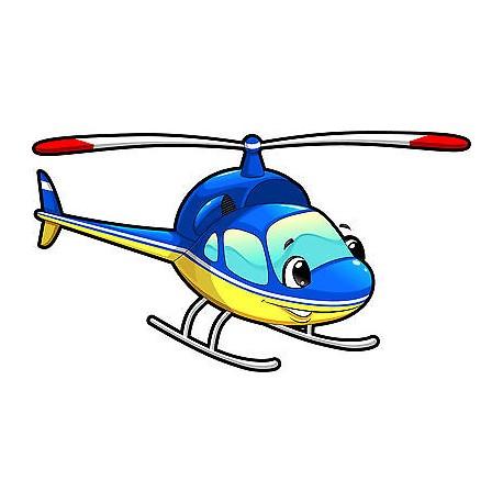 Stickers enfant Hélicoptère réf 3558 (Dimensions de 10cm à 130cm de largeur)