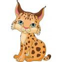 Sticker enfant Lynx réf 3530 ( Dimensions de 10 cm à 130cm de hauteur)