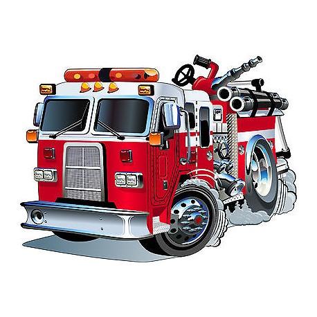 Stickers enfant camion pompier r f 3548 dimensions de - Minion pompier ...