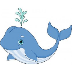 Stickers muraux enfant Baleine réf 3538 (Dimensions de 10 cm à 130cm de largeur)