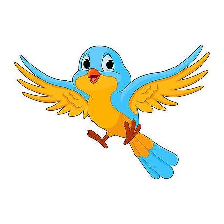 Stickers muraux enfant Oiseau réf 3537 (Dimensions de 10 cm à 130cm de largeur)