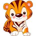 Sticker enfant Minou réf 3533 ( Dimensions de 10 cm à 130cm de hauteur)