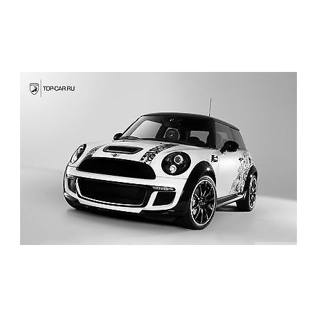 Sticker autocollant auto voiture Mini cooper A263